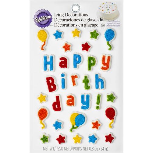 Wilton Kid???s Birthday Edible Cake Topper Decorating Kit
