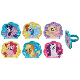 My Little Pony Cupcake Rings 6/pkg